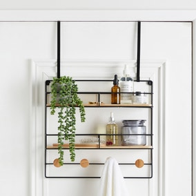 Multi-Purpose Bamboo Over Door Storage Basket