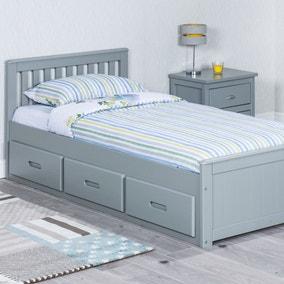 Mission Grey Storage Bed