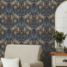 Havisham Navy Wallpaper