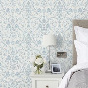 Dorma Remington Blue Wallpaper