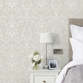 Dorma Remington Grey Wallpaper