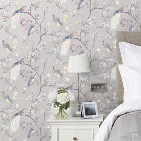 Dorma Maiya Grey Wallpaper