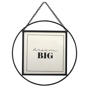 "Black Circular Hanging Frame 5"" x 5"" (13cm x 13cm)"