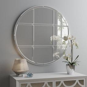 Luxe Window Circular Mirror 80cm