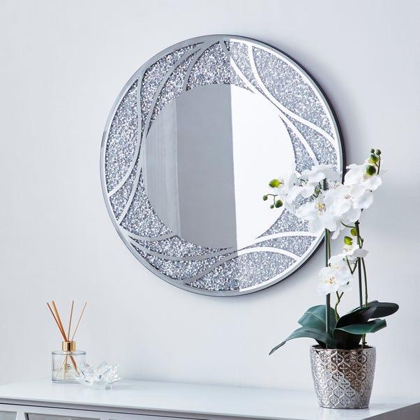 Mirage Circular Mirror 60cm Silver