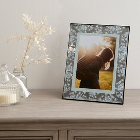 """Cow Parsley Mirrored Photo Frame 7"""" x 5"""""""