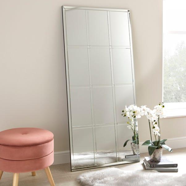 Luxe Window Leaner Mirror 70x150cm Silver