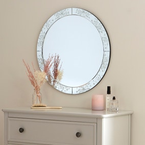 Cow Parsley Circular Mirror 60cm