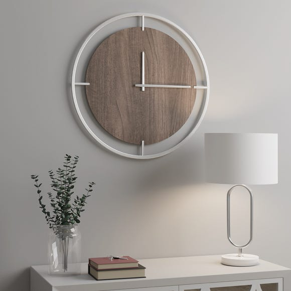 Reluxe Wall Clock 60cm Silver