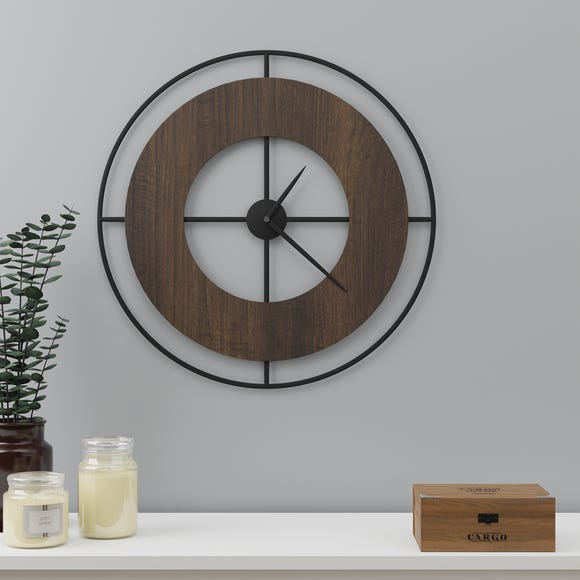 Retreat Wall Clock 60cm Black