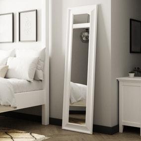 White Midi Leaner Mirror