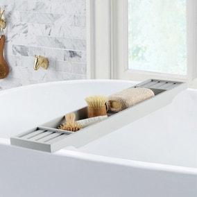 Grey Bamboo Bath Rack