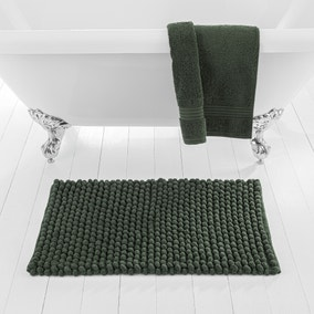 Pebble Forest Green Bath Mat