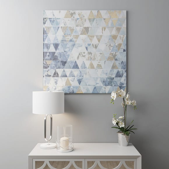 Gloss Blue And Gold Geo Canvas Gold