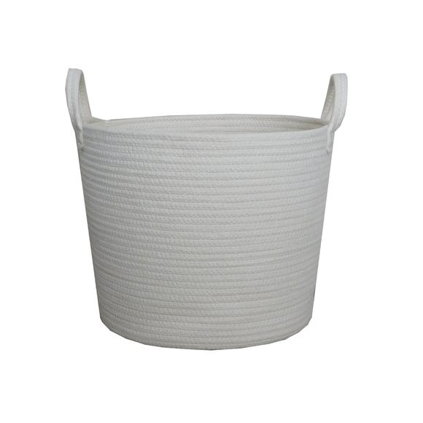 Cream Rope Basket