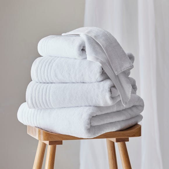 Dorma Tencel Sumptuously Soft Snow Towel  undefined