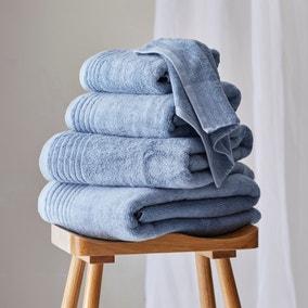 Dorma Tencel Sumptuously Soft Porcelain Blue Towel