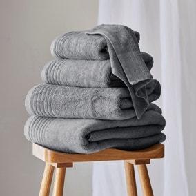 Dorma Tencel Sumptuously Soft Dove Grey Towel