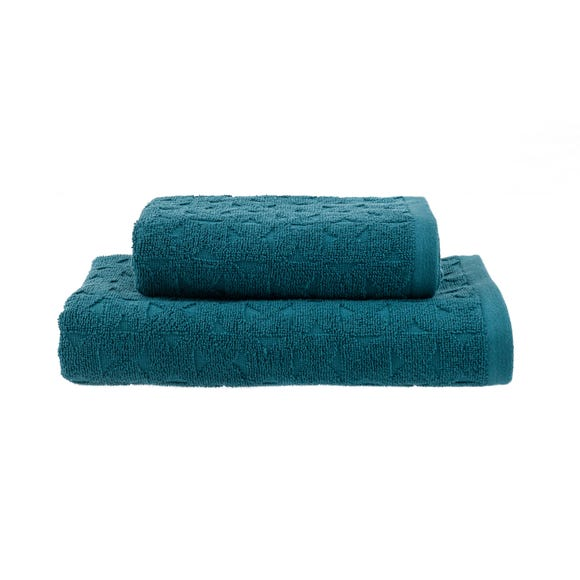 Elements Teal Sten Semi Circle Pattern Towel  undefined