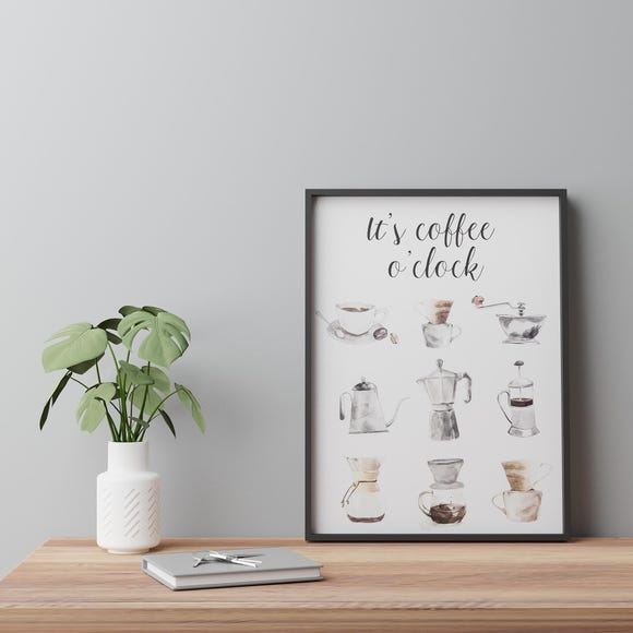 Coffee Boxed Canvas White