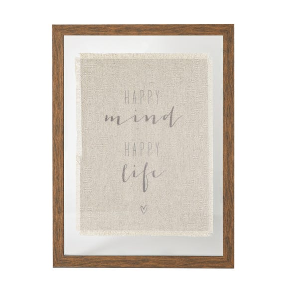 Happy Mind Framed Print White
