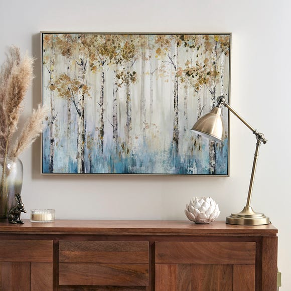 Misty Woods Foiled Boxed Canvas Gold