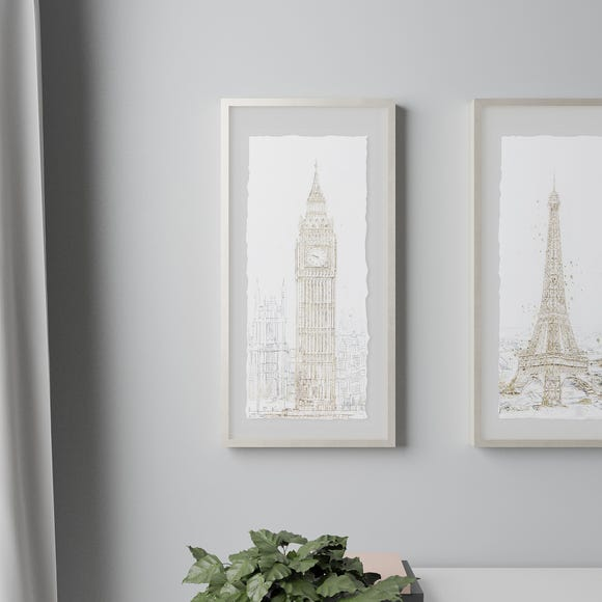 London Glam Framed Print Gold