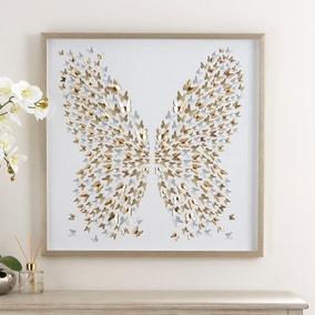 3D Laser Cut Butterfly Framed Print