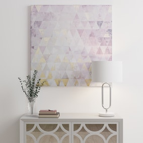 Gloss Pink and Gold Geometric Canvas