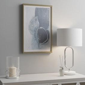 Blue Abstract Circles Framed Print