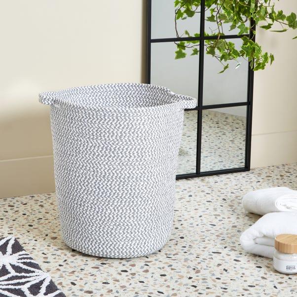 Light Grey Rope Laundry Bag Grey
