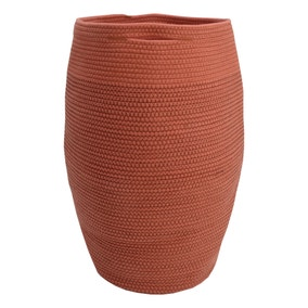 Terracotta Cotton Rope Laundry Bag