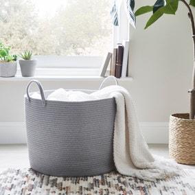 Large Grey Rope Basket