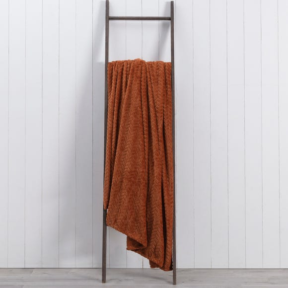 Amelia Fleece 200cm x 200cm Throw Butterscotch (Orange)
