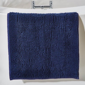 Navy Mini Bobble Bath Mat