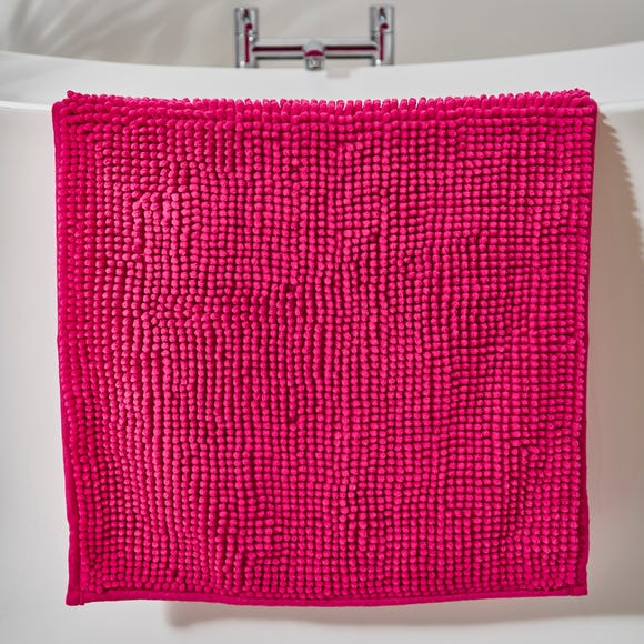 Fuchsia Mini Bobble Bath Mat