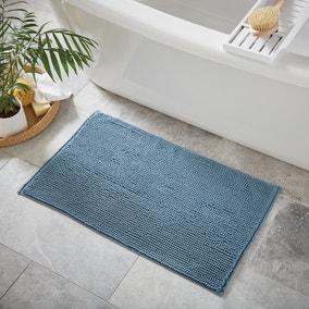 Denim Mini Bobble Bath Mat