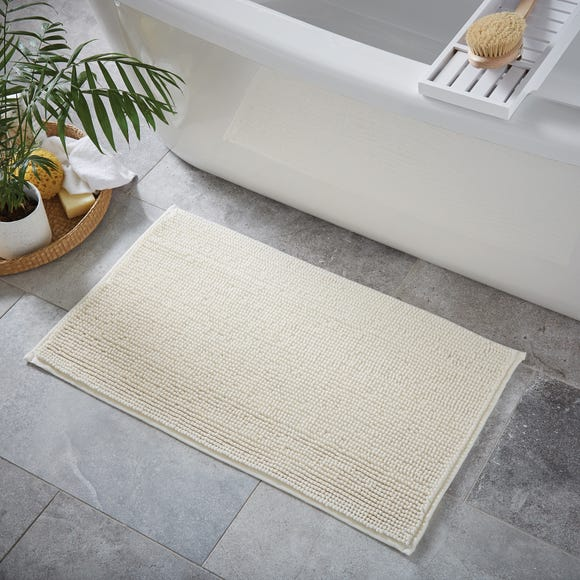 Cream Mini Bobble Bath Mat