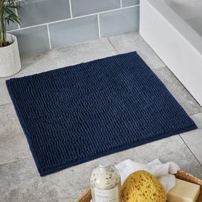 Navy Mini Bobble Shower Mat