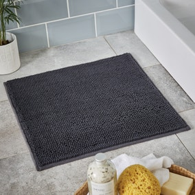 Charcoal Mini Bobble Shower Mat
