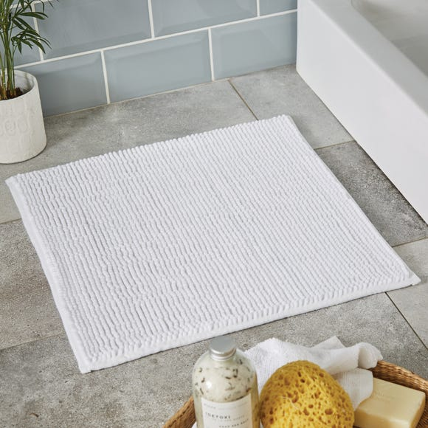 White Mini Bobble Shower Mat