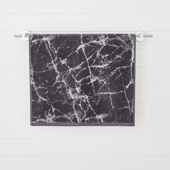 Charcoal Marble Towel  undefined