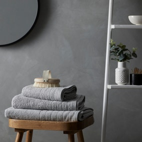 Cotton Soft Anti-Bacterial Grey Towel