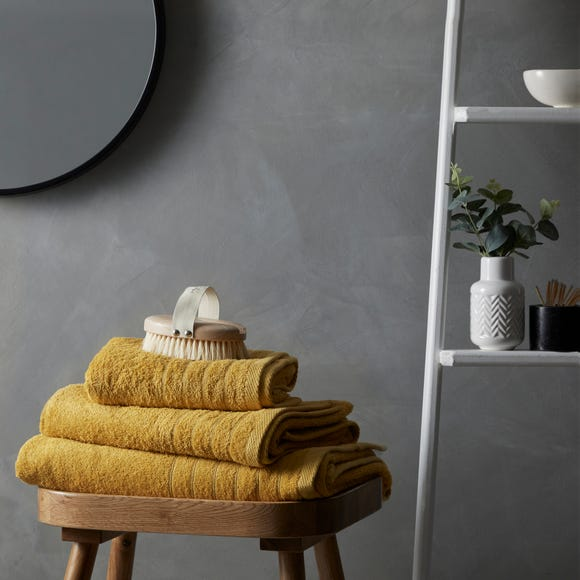 Cotton Soft Anti-Bacterial Ochre Towel  undefined