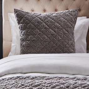 Dorma Purity Shalimar Grey Continental Square Pillowcase