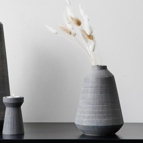 Small Matte Grey Ceramic Vase
