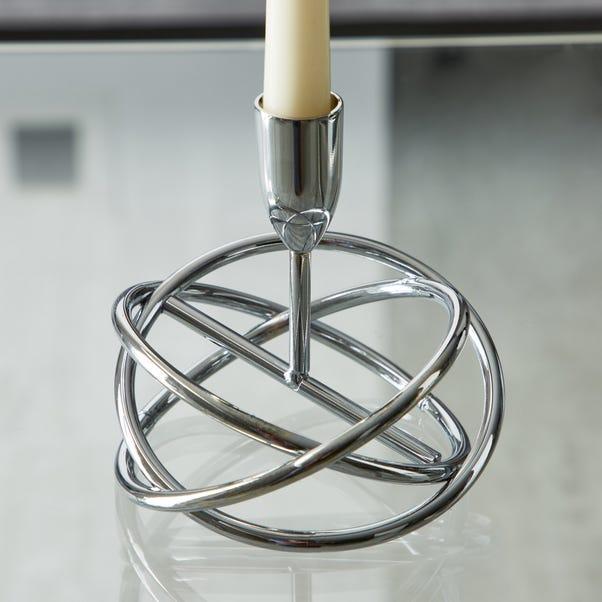 Dorma Circle Silver Candlestick Silver