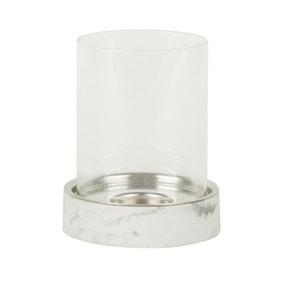 Marble Effect Base Lantern