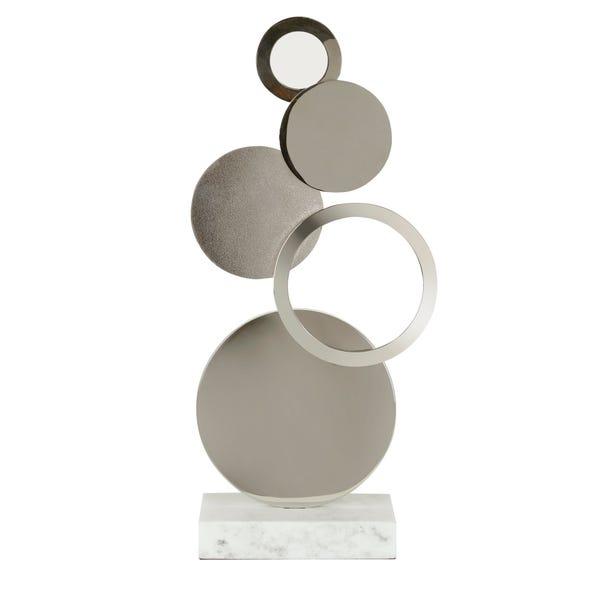 Contemporary Circle Sculpture Silver