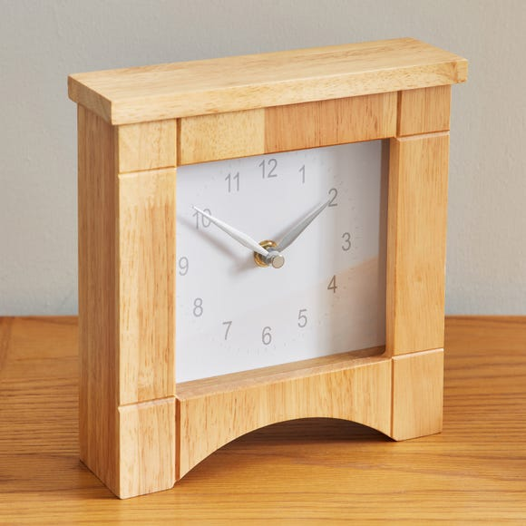 Wooden Mantel Clock Brown